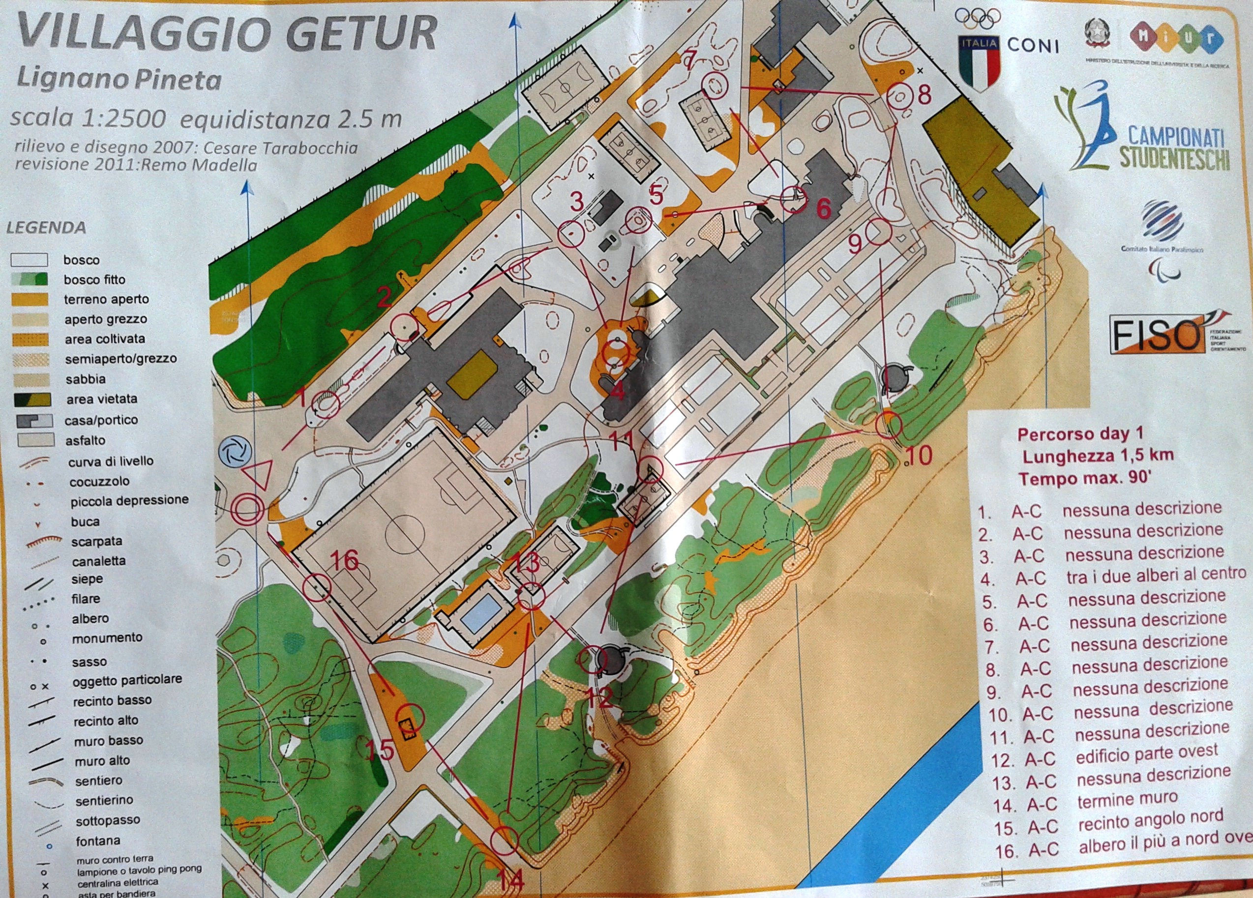 GSS 2014 Trail-O checking course (22/09/2014)